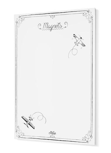 The Mia Magnet Panosu- 70 x 50 Cm Beyaz